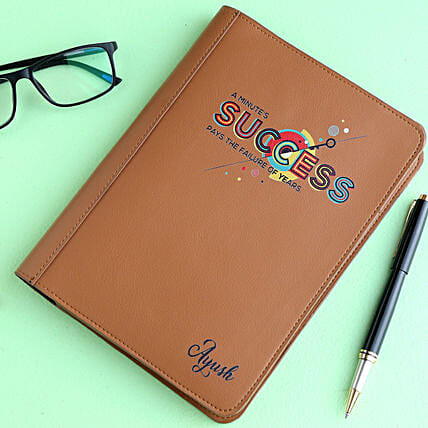 Personalised Leather Cover Notebook