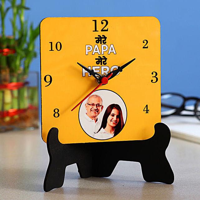 Personalised Mere Papa Hero Table Clock
