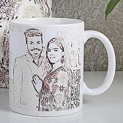 Personalized Couple Sketch Mug