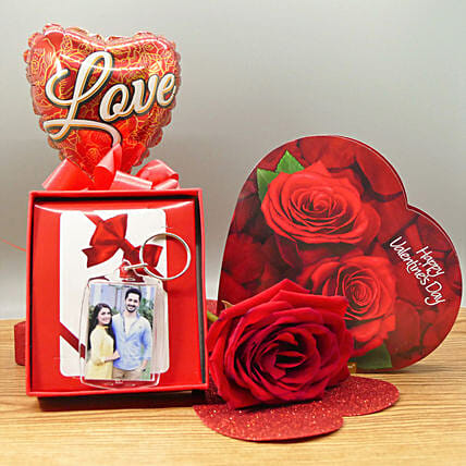 Photo Keychain Combo:Send Valentines Day Flowers to Canada