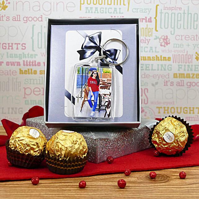 Photo Keychain With Chocolates