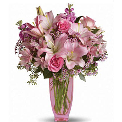 Pretty Pink:Lilies to Canada