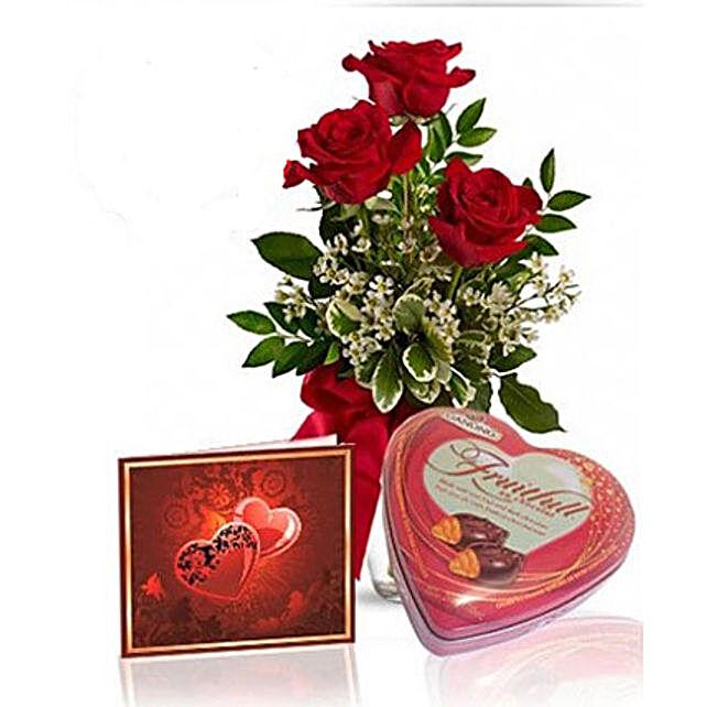 Roses N Chocolate Combo