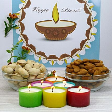 Scented Candle And Dry Fruit Combo