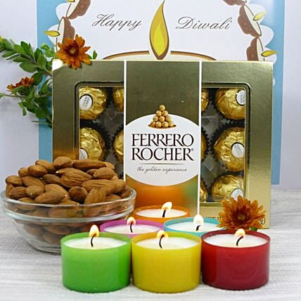 Special Scented Candle And Dry Fruit Combo