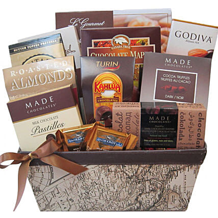 Thank You Gift Basket For Office:Send Birthday Gifts to Canada