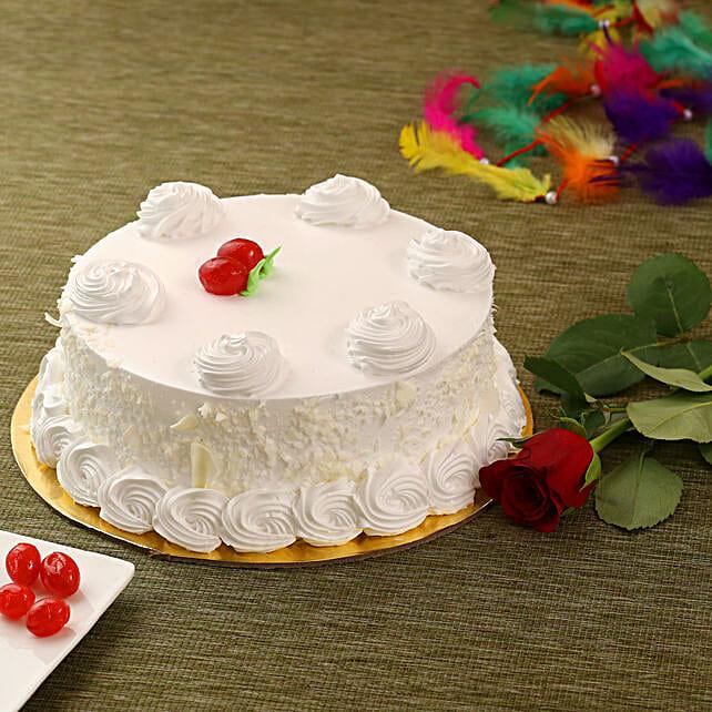 Vanilla Cake N Rose