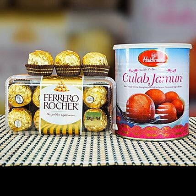 Ferrero Rocher With Gulab Jamun