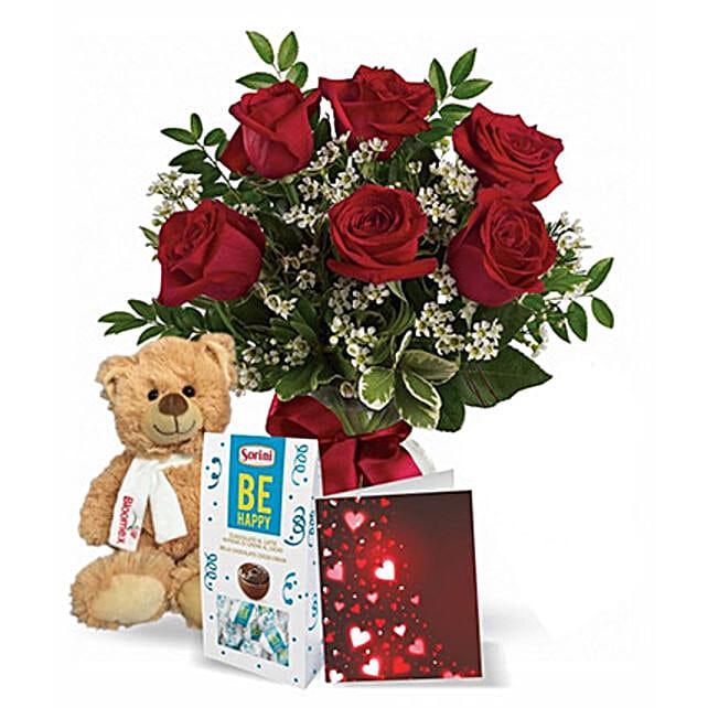 Teddy Rose Choco:Canada Flowers