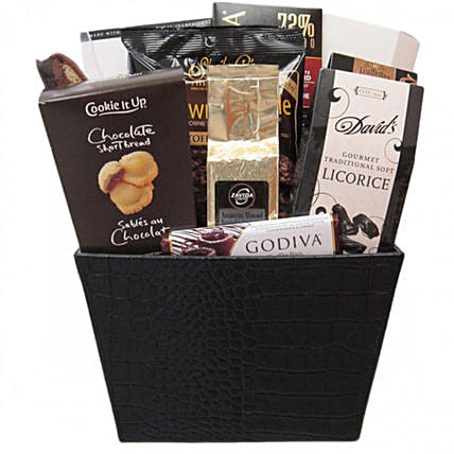 Delectable Metropolitan Delight Gift Basket:Gift Baskets Delivery Canada