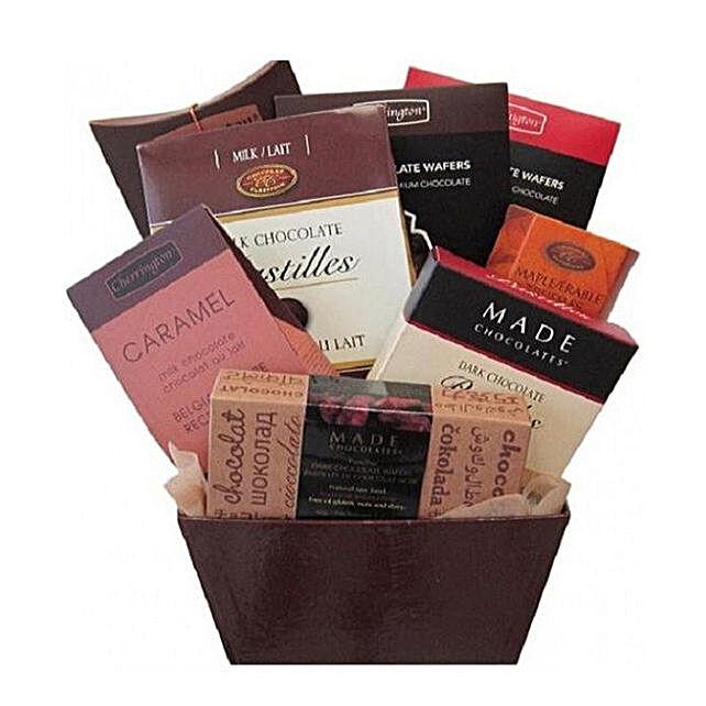 Delicious Chocolate Delight Hamper:Gift Baskets Delivery Canada