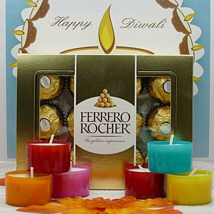 Ferrero Rocher And Scented Candles Combo