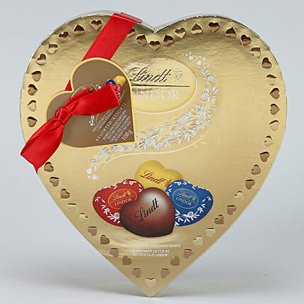Heart Shaped Assorted Lindor Chocolates