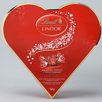 Lindt Milk Heart Gift Box:Chocolate Gift Baskets in Canada