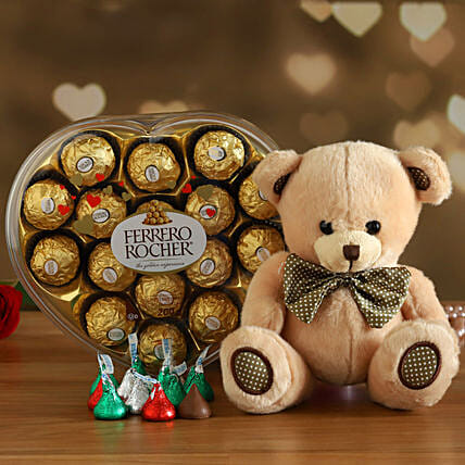 Ferrero Rocher With Cute Teddy