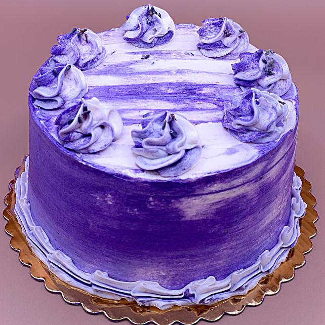 Lovely Earl Grey Lavender Eggless Cake
