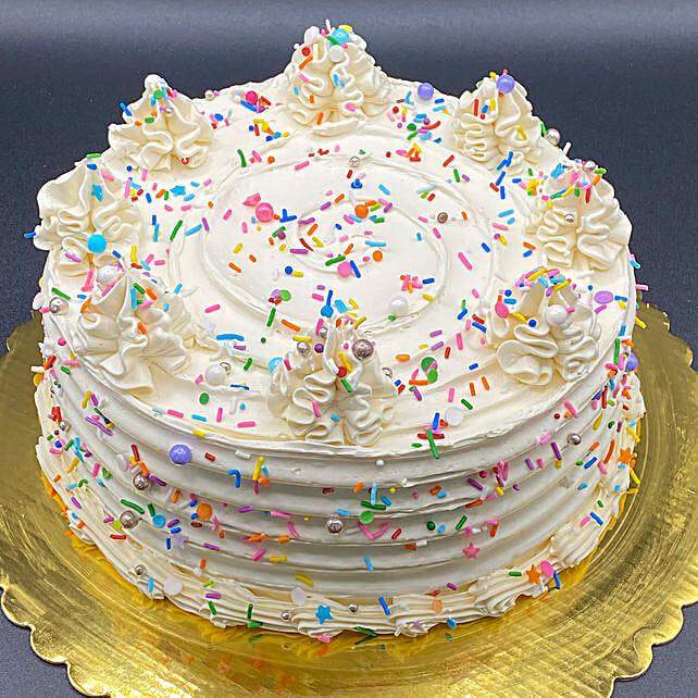 Delectable Birthday Eggless Cake:Canada Cake