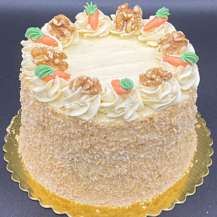 Flavourful Carrot Eggless Cake