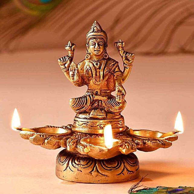 Goddess Lakshmi Brass Diya