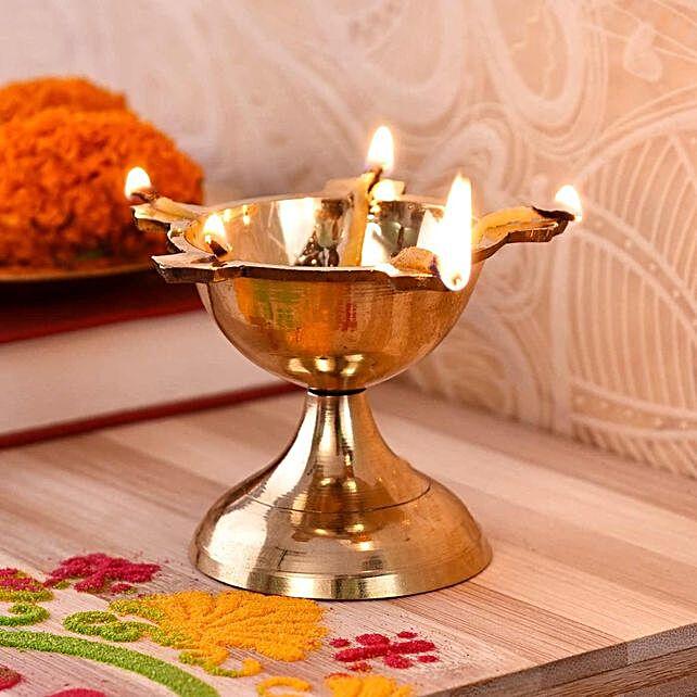 Traditional Poona Batti Brass Diya