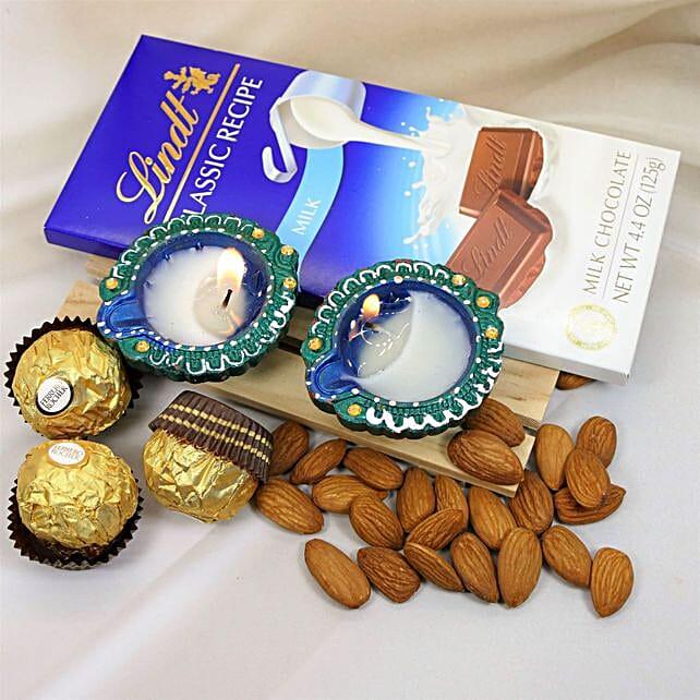 Diwali Greetings Chocolates And Almonds