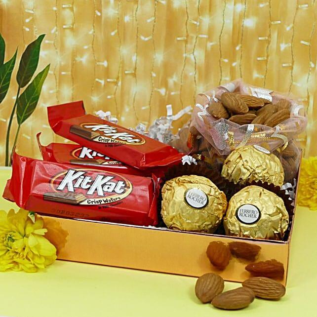 Diwali Wishes Chocolates And Almonds
