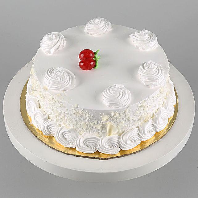 Vanilla Cake Half Kg:Vanilla Cake Delivery in Canada