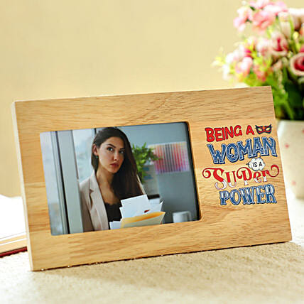 Women Superpower Personalised Frame