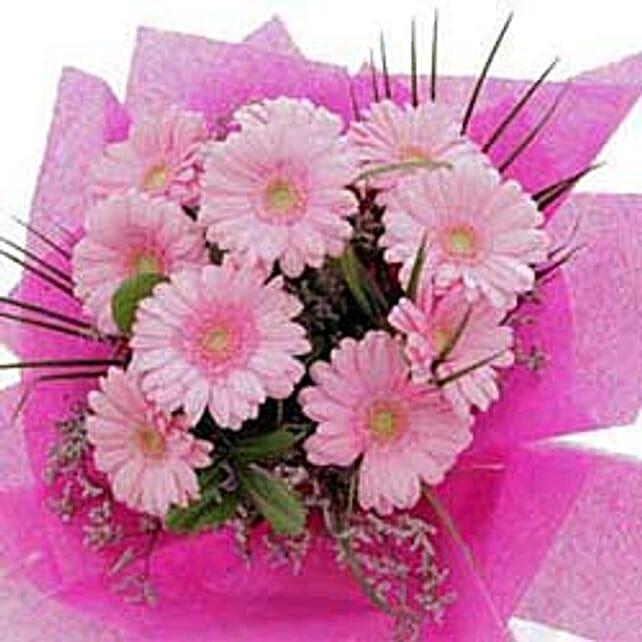 10 pink gerberas CIN