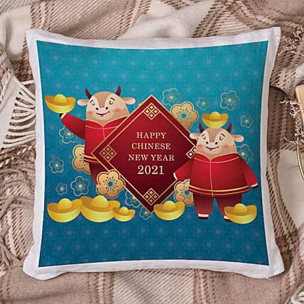 2021 Year of The Ox Cushion:Send Chinese New Year Gifts to China