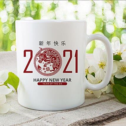 Chinese New Year Wishes Printed Mug:Send Chinese New Year Gifts to China
