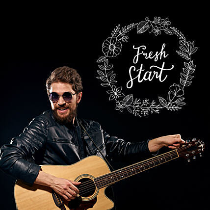 Fresh Start Musical Notes:Guitarist On Video Call In China