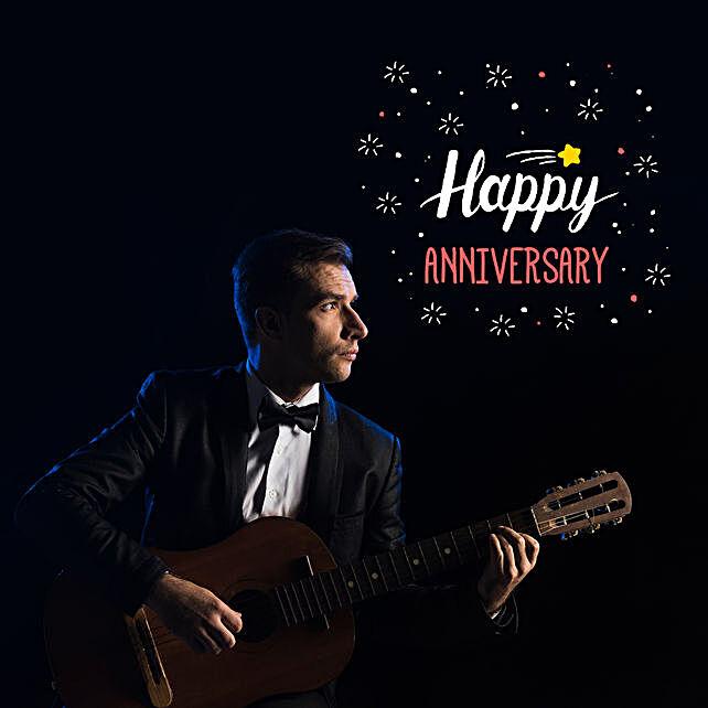 Happy Anniversary Romantic Tunes:Guitarist On Video Call In China