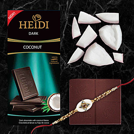 Heidi Coconut Dark Chocolate And Rakhi Combo