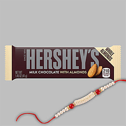Hersheys Milk Almond Choco And Rakhi Combo:Rakhi for Brother in China
