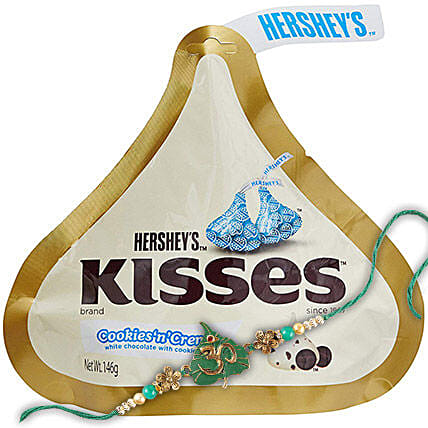 Rakhi And Hersheys Kisses Choco Combo