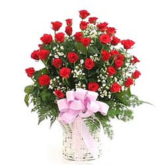 Rose basket C -CIN:Send Rose Day Gifts to China