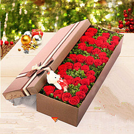 Box Of 36 Red Roses:Send Flowers to China