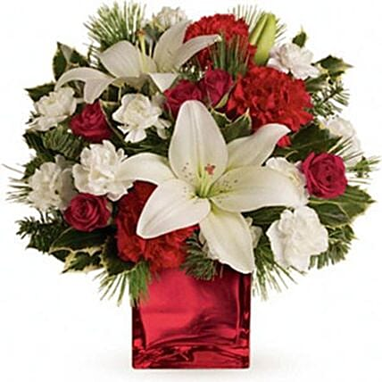 Roses And Carnations Combo