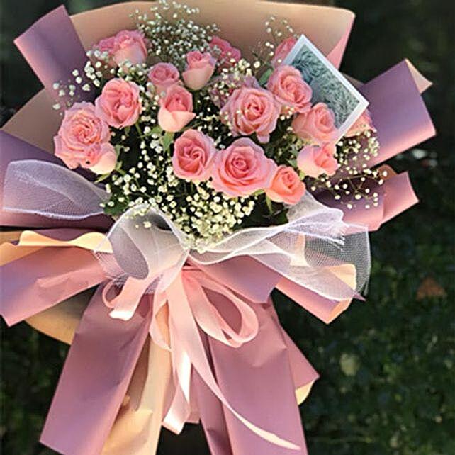 Missing Tide Pink Rose Bouquet