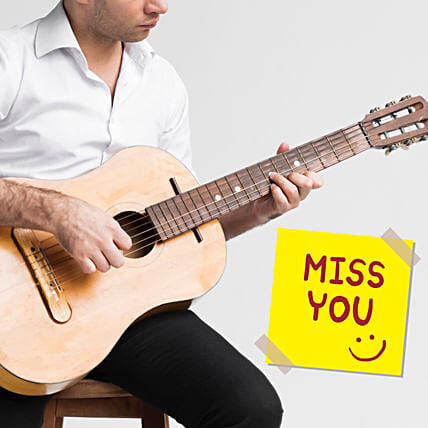I Miss You Musical Tunes:Guitarist On Video Call In Croatia