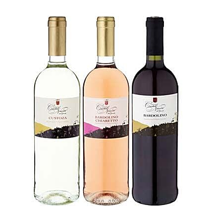 3 Bottles of Wine The Gardasee Set