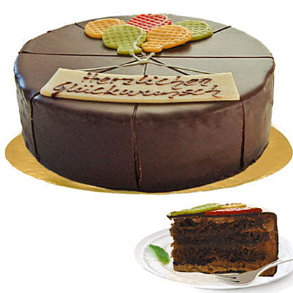 Delectable Dark Chocolate Cake:Cake Delivery in Germany