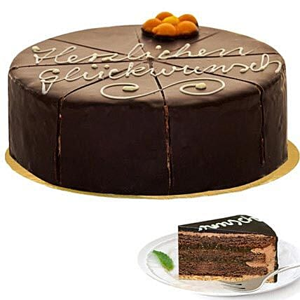 Dessert Sacher Cake:Birthday Cakes in Germany