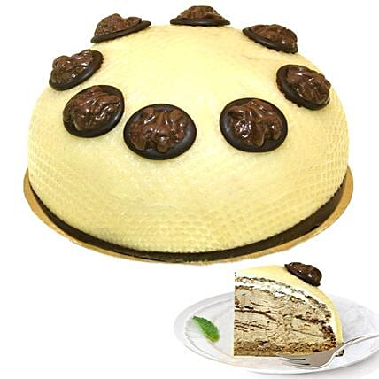 Dessert Walnut Cream Cake:Send Birthday Cakes to Germany