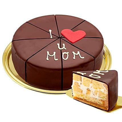 German Pyramid Cake I Love U Mom:Mothers Day Gifts Germany
