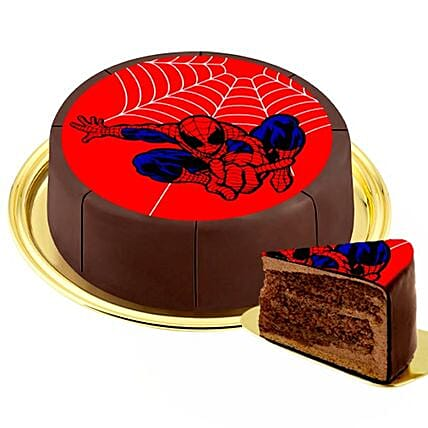 Motif Cake Spiderman
