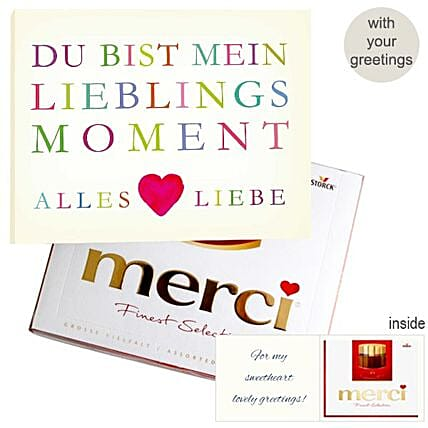Personal Greeting Card With Merci Lieblingsmoment 250G