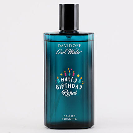 Personalised Davidoff Cool EDT Bottle For Men:All Gifts