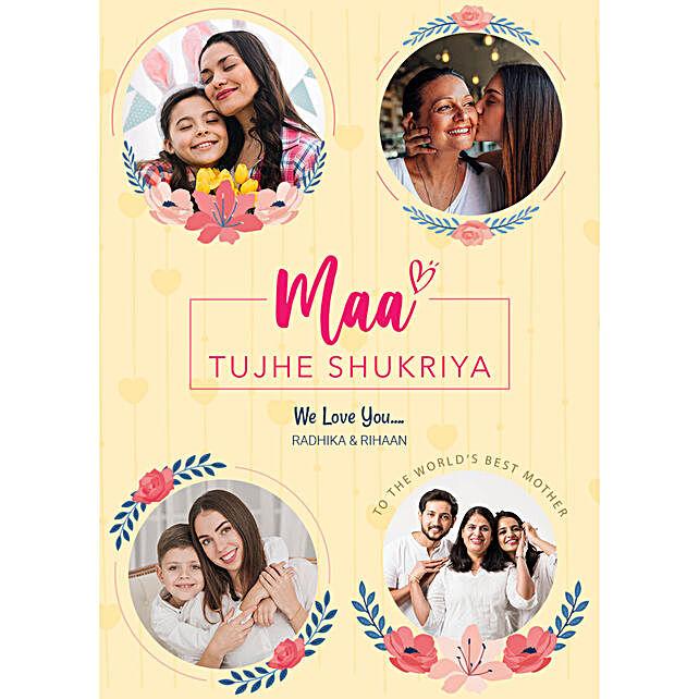 Personalised Maa Tujhe Shukriya Digital Collage
